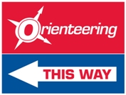 Sample orienteering direction sign